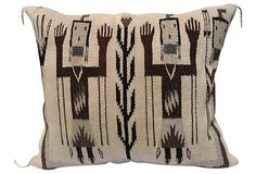 Contemporary Navajo Yei Tribe Pillow   $425