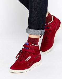 Buy Reebok High Collective Burgundy High Top Trainers at ASOS. With free delivery and return options (Ts&Cs apply), online shopping has never been so easy. Get the latest trends with ASOS now. Reebok, Fitness Workouts, Shoe Boots, Shoes Heels, Women's Boots, Flats, Bordeaux, Basket Vintage, Womens Boots On Sale
