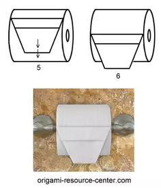 This toilet paper origami basket is pretty versatile. You can add a sprig of flower or a decorative element to add charm to your bathroom. You can also add a pleated square of toilet Toilet Paper Origami, Toilet Paper Art, Napkin Folding, Paper Folding, Napkin Origami, Paper Oragami, Star Wars Origami, How To Fold Towels, Paper Umbrellas