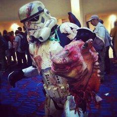 Zombie storm trooper finally got Jar Jar