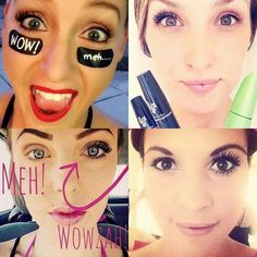 Wow vs Meh! Get a wow with Younique 3D Fiber Lash Mascara  #lashes #uk #newzealand #usa #australia #canada #xfactor #beauty #makeup #cosmetics www.youniqueproducts.com/anastasiamolnarlashlegacy