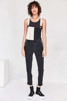 GUESS 1981 Colorblock Dungaree Overall - Urban Outfitters