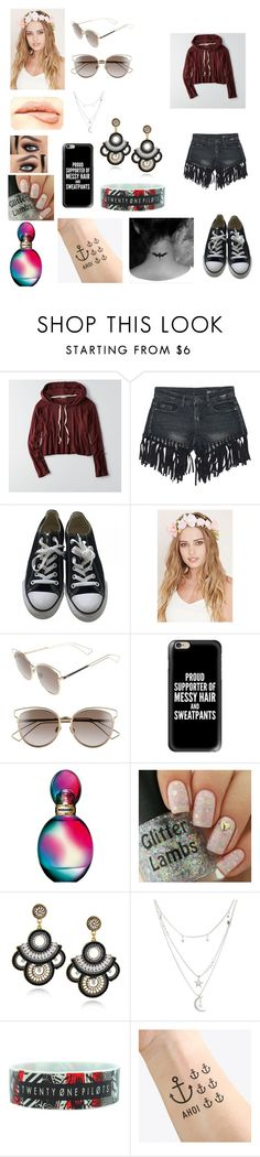 """""""Serena's outfit for day in Dublin, Ireland"""" by onedirectionforever1297 on Polyvore featuring American Eagle Outfitters, Sans Souci, Converse, Forever 21, Christian Dior, Casetify, Missoni, Charlotte Russe, NAVUCKO and NYX"""