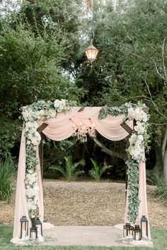 TEMECULA WEDDING — Laura Moll Photography The perfect blush pink wedding ceremony arch featuring floral details and a chic rustic feel Romantic Wedding Receptions, Wedding Ceremony Arch, Romantic Weddings, Elegant Wedding, Rustic Wedding, Drapery Wedding, Wedding Ideas, Outdoor Weddings, Spring Weddings