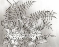 Flower Drawing 12 by Sultzaberger