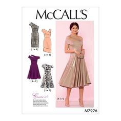 McCall's Sewing Pattern Misses' and Women's Special Occasion Dresses Mccalls Patterns, Dress Sewing Patterns, Skirt Patterns, Corsage, High Waisted Pencil Skirt, Pencil Skirts, Pencil Dresses, Patron Simplicity, Patron Butterick
