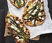 Grilled Pizzas with Asparagus and Sun-Dried Tomatoes, Recipe from Everyday Food, June 2008