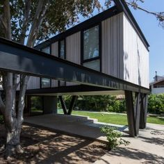 Gregorio+Brugnoli+Errázuriz+raises+Santiago+house+above+a+patio+and+beech+tree