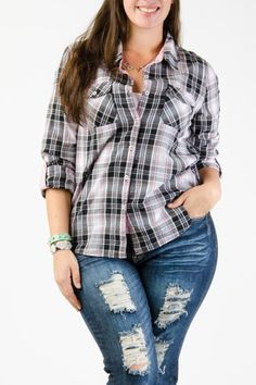 Plus Size Tops - Trendy and stylish tops for the curvy style. Curvy Outfits, Outfits For Teens, Plus Size Outfits, Trendy Outfits, Fashion Outfits, Fall Fashion, Stylish Tops, Trendy Tops, Trendy Plus Size Clothing