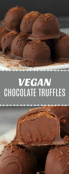 Rich and luxurious vegan chocolate truffles. A decadent chocolate ganache center smothered in dark chocolate. The perfect dessert for all occasions! | lovingitvegan.com