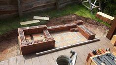 zahradní krby s grilem a udírnou - viditelná část z lícových cihel Table, Home Decor, Decoration Home, Room Decor, Tables, Desks, Desk, Interior Decorating