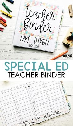 EVERYTHING you need to stay on top of organization and stay away from the stress that comes along with being a special educator. #teacherbinder #SPED