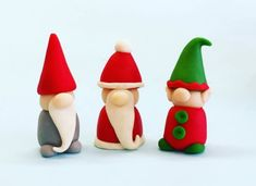 SANTA, ELF and GNOME Christmas candy - Edible marzipan gift sculptures for Christmas - Great Cake and Cupcake Toppers - A Delicious Treat! SANTA, ELF and GNOME Christmas candy - Edible marzipan gift sculptures for Christmas - Great Cake an Clay Christmas Decorations, Christmas Cake Designs, Christmas Cake Topper, Christmas Cupcakes, Christmas Candy, Christmas Baking, Christmas Crafts, Polymer Clay Christmas, Polymer Clay Crafts