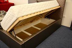 Luxusná posteľ Neli - lamelové rošty s bočným otváraním, úložný priestor Bench, Storage, Furniture, Home Decor, Luxury, Purse Storage, Decoration Home, Room Decor, Larger