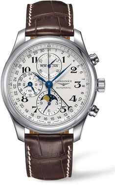 Looking for Longines Master Automatic Chronograph Alligator Leather Strap Watch, ? Check out our picks for the Longines Master Automatic Chronograph Alligator Leather Strap Watch, from the popular stores - all in one. Best Watches For Men, Luxury Watches For Men, Cool Watches, Wrist Watches, Men's Watches, Watches Online, Longines Watch Men, Longines Hydroconquest, Moonphase Watch