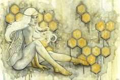 """Predicate"" / Watercolor / Kelly McKernan  www.kellymckernan.com"