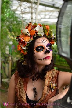 Hawkmoth Harvest Day of the Dead Crown  Dia de los by HikariDesign, $55.00