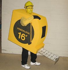 Here is a photo of my son-in-law's Halloween costume.  All hand made with cardboard, metal, plastics, etc.  He always wins with his unique costumes.