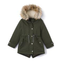 Imagen de Parka con capucha de forro polar 3-12 años La Redoute Collections