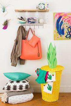 DIY Laundry Basket via Brit + Co