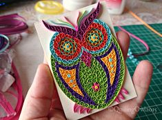ACEO - original quilled owl aceo, ©QuillingOwl