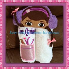 Disney's Doc McStuffins hooded towel with by AKidsDreamBoutique