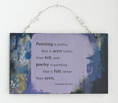 Wall Hanging Art with Leonardo Da Vinci Quote by TheArtofMind, $28.00