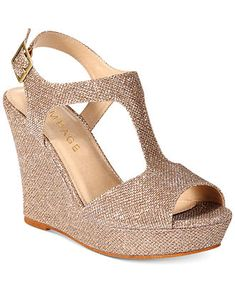 Rampage Candelas T-Strap Platform Wedge Sandals - All Women's Shoes - Shoes - Macy's
