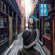 Exploring Fan Tan Alley - one of North America's narrowest streets - in Victoria's Chinatown.  (pic: @vonvogueblog via Instagram) #exploreBC #explorecanada