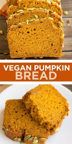 Vegan Pumpkin Bread, Starbucks Pumpkin Bread, Canned Pumpkin, Pumpkin Puree, Vegan Dessert Recipes, Vegan Sweets, Baking Recipes, Healthy Fall Recipes, Vegan Recipes For Thanksgiving