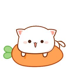 Cute Cartoon Pictures, Cute Cartoon Drawings, Cute Love Cartoons, Cute Images, Cute Love Gif, Cute Cat Gif, Cute Cats, Anime Puppy, Chibi Cat