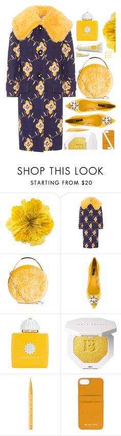 """""""A velvet touch"""" by sunnydays4everkh ❤ liked on Polyvore featuring Gucci, Miu Miu, Eddie Borgo, Dolce&Gabbana, AMOUAGE, Puma, Too Faced Cosmetics, MICHAEL Michael Kors and Soap & Paper Factory"""