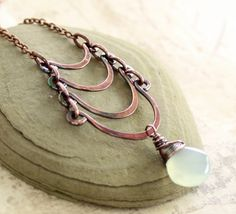 tiered copper necklace