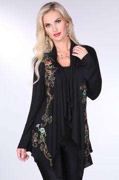 Western Embroidered Black Jacket: Western Wear | Women Western Clothing | Western Apparel Clothing