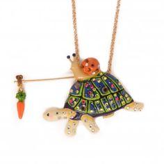 Necklace turtles and snail - Les Néréides - N2