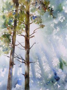 foret -cimes 30x40 Plus #watercolorarts