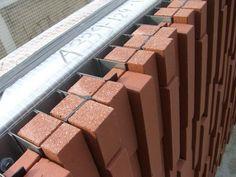 Cladding Design, Brick Cladding, Brick Paneling, Facade Design, Exterior Design, Concrete Facade, Brick Facade, Facade House, Brick Wall