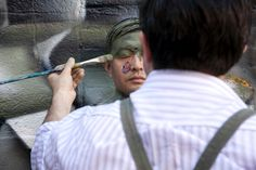 Disappearing in Place - Photographs - NYTimes.com #Artist #LiuBolin #China #Art #Camouflage #Graffiti