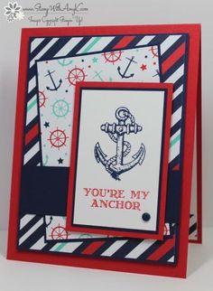 Guy Greetings With Maritime DSP by amyk3868 - Cards and Paper Crafts at Splitcoaststampers