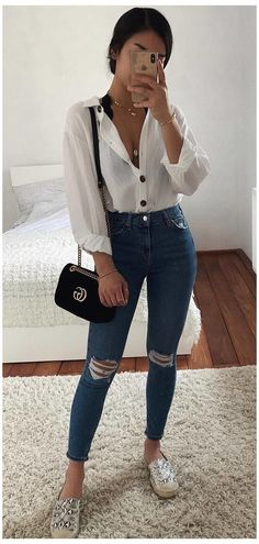 Trendy Summer Outfits, Cute Casual Outfits, Spring Outfits, Casual Chic, Winter Outfits, Teenager Outfits, College Outfits, Vetement Fashion, Teen Fashion Outfits