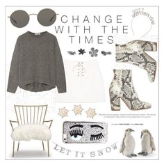 you can plan for a change in the weather and time 🌿 by sabbbycat on Polyvore featuring polyvore fashion style Helmut Lang Strategia Oliver Peoples Chiara Ferragni Mitchell Gold + Bob Williams Grandin Road Graham & Brown GE clothing