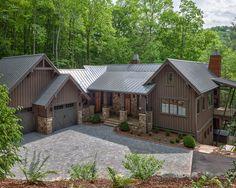 Unique Rustic Home Exterior Design Traditional Landscape Wade Hampton Golf Club Clic Architecture