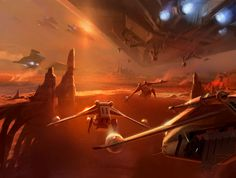 Star Wars II, Attack of the Clones, Ryan Church Concept Art, RyanChurch.com