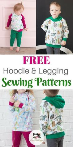 Learn how to sew a hoodie and leggings with a free PDF sewing pattern and step-by-step video on Sweetredpoppy.com
