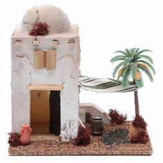 Casetta stile arabo in polistirene cm Christmas Manger, Christmas Nativity Scene, Christmas Crafts, Nativity Sets, Ward Christmas Party, Medieval Houses, Italy Art, Free To Use Images, Desert Homes