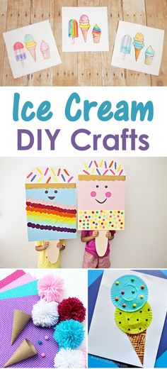 DIY #IceCream themed crafts for kids - a great summer time activity!
