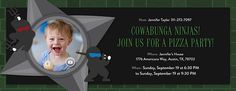 Ninja Party Invitation