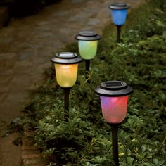 Solar Color-Changing Pathway Light ~ $28.95 at sportys.com