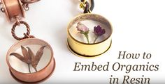 You can capture organic material within resin for a meaningful jewelry look! Becky Nunn of Nunn Design shows you how in this video. You'll learn different techniques for drying flowers...Read More