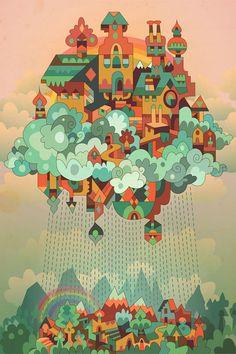 Rainbow Island by Matt Lyon